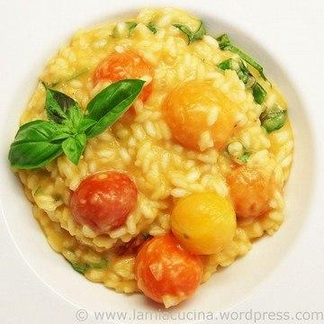 Rezept Bunter Tomatenrisotto