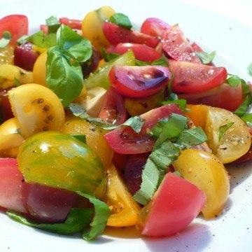 Rezept Bunter Tomatensalat