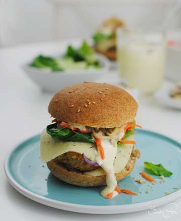 Rezept Burger mit Haferflocken Bratling