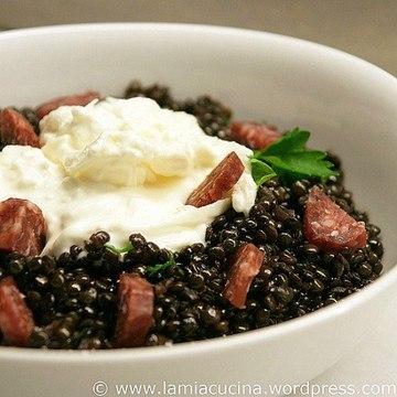 Rezept Burrata mit Balsamico-Linsen
