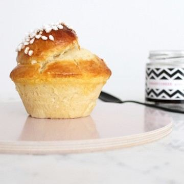 Rezept Butter Brioches in Muffinformen gebacken