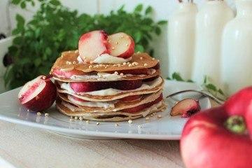 Rezept Buttermilch-Pancake-Torte