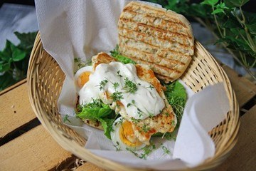 Rezept Caesar Salad Burger