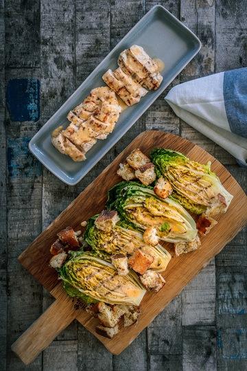 Rezept Caesar Salad vom Grill