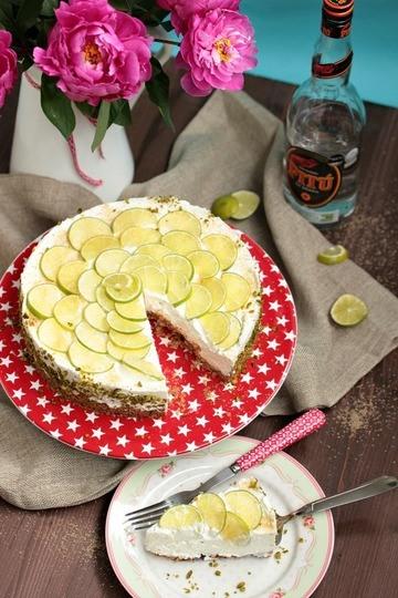 Rezept Caipirina Torte oder No-Bake Limetten Schmandtörtchen