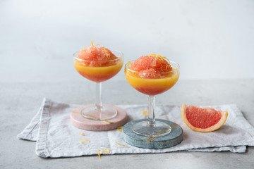 Rezept Campari Grapefruit Sorbet