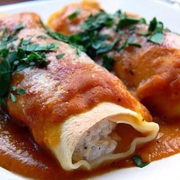 Rezept Cannelloni mit Fischfüllung und Kürbissauce