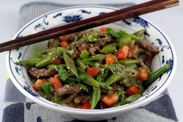 Rezept Cantonese Beef Stir-Fry mit Quietschebohnen