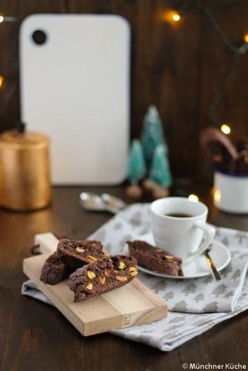 Rezept Cantuccini mit Schokolade und Pistazien