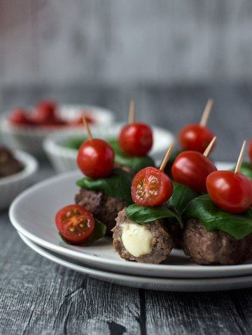 Rezept Caprese Meatballs - Fingerfood