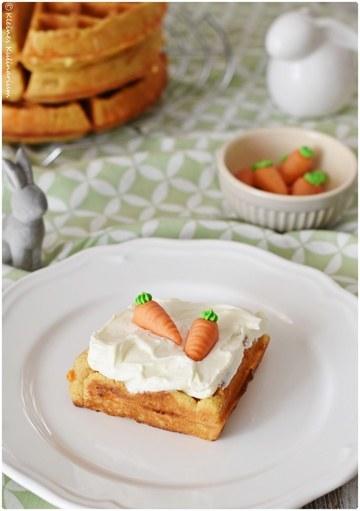 Rezept Carrot Cake Waffles mit Mascarpone Sahne Frosting