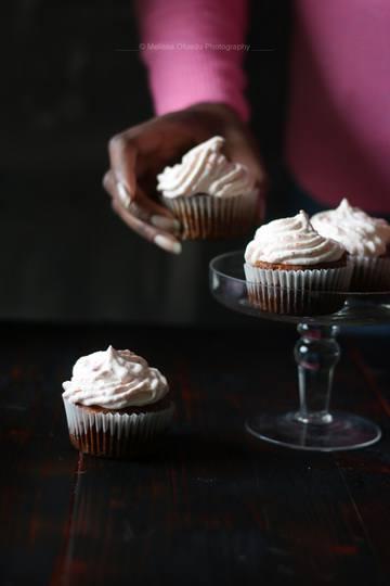 Rezept Cayenne Pfeffer & Erdbeer Cupcakes