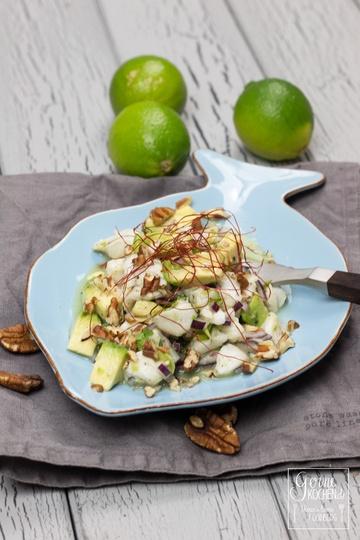 Rezept Ceviche mit Avocado mit Pecannüssen
