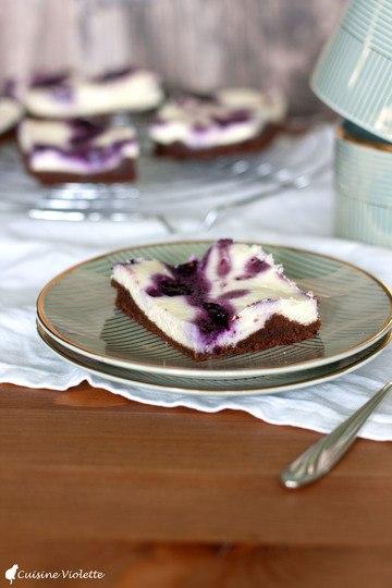 Rezept Cheesecake-Brownie mit Blaubeeren