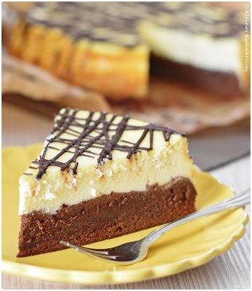 Rezept Cheesecake mit Brownieboden