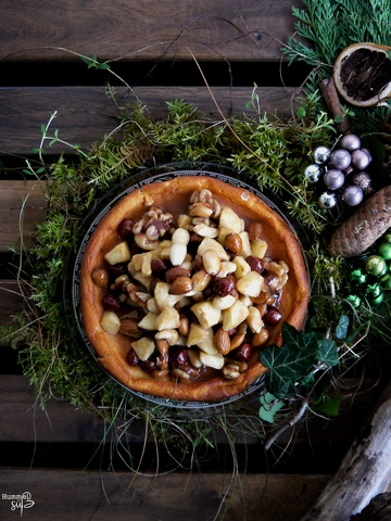 Rezept Cheesecake mit Nuss-Apfel-Zimt Karamell