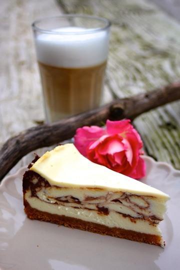 Rezept Cheesecake mit Schokoladenswirl und Schmandguss
