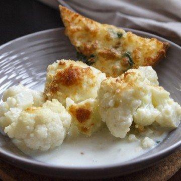 Rezept Cheesy Gobi Bake – Blumenkohlgratin