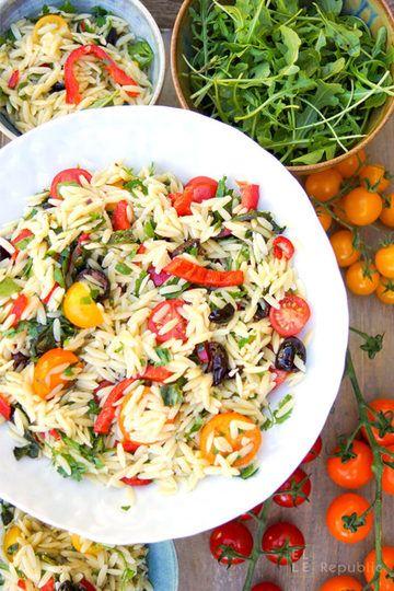 Rezept Cherry-Tomaten-Nudelsalat mit Paprika und Oliven