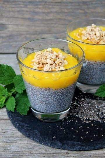 Rezept Chia-Kokos-Pudding mit Mango-Limetten-Püree