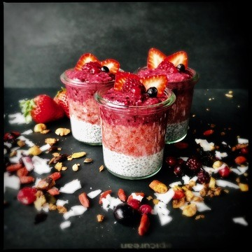 Rezept Chia Pudding mit Beeren