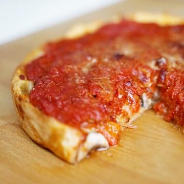 Rezept Chicago-style Pizza mit vegetarischer Füllung
