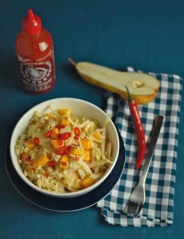 Rezept Chinakohlsalat mit Mango und Birne