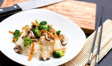 Rezept Chinesische Gemüsepfanne mit Reis