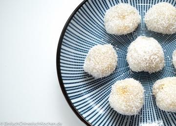 Rezept 芒果糯米糍 – chinesische Klebreis Bällchen mit Mango Füllung