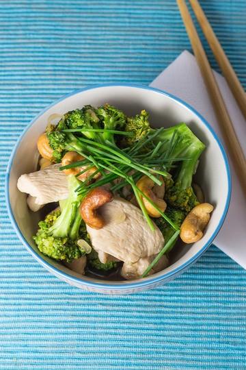 Rezept Chinesisches Brokkoli Hähnchen Stir fry mit Cashewnüssen