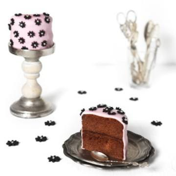 Rezept chocolate blossoms fondant cake + giveaway