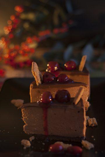 Rezept Chocolate Cheesecake - mit Spekulatius und Glühweinkirschen