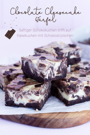 Rezept Chocolate Cheesecake Würfel