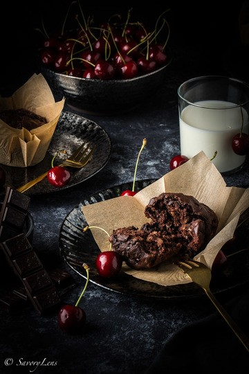 Rezept Chocolate Cherry Muffins