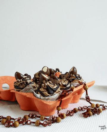 Rezept Chocolate Chip Mini Cupcakes, mit Schoko-Schmand Frosting