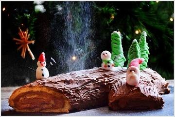 Rezept Chocolate Yule Log - Eine keltische Weihnachtstradition (Low Carb & Glutenfrei)