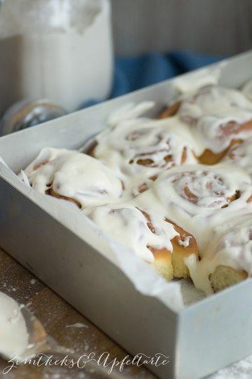 Rezept Cinnamon-Rolls mit Frischkäse-Frosting