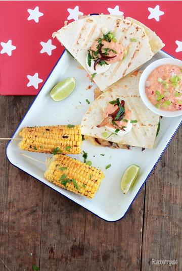 Rezept Club Quesadillas und Chili Lime Corn