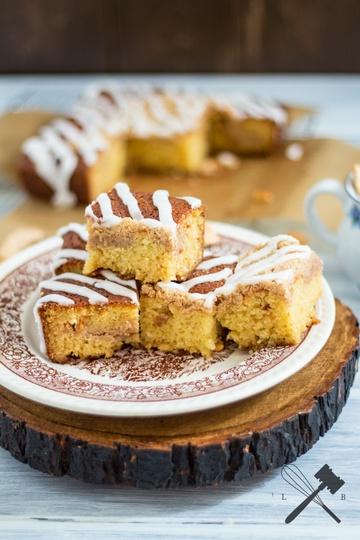 Rezept Coffee Cake mit Apfelchips und weißer Schokolade