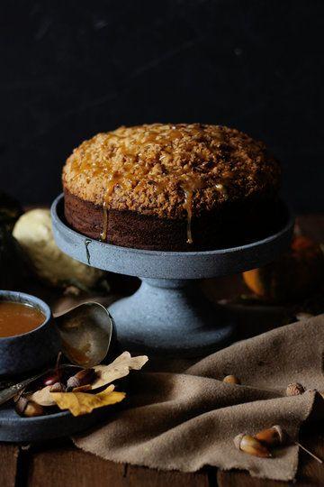 Rezept Coffee Cake mit Kürbis und Ingwer-Karamell Soße