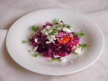 Rezept Coleslaw Deluxe - Roher Blaukrautsalat mit Orangen und Feta