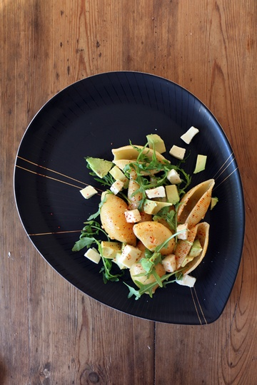 Rezept Conchiglioni mit Avocado und Piment d'Espelette
