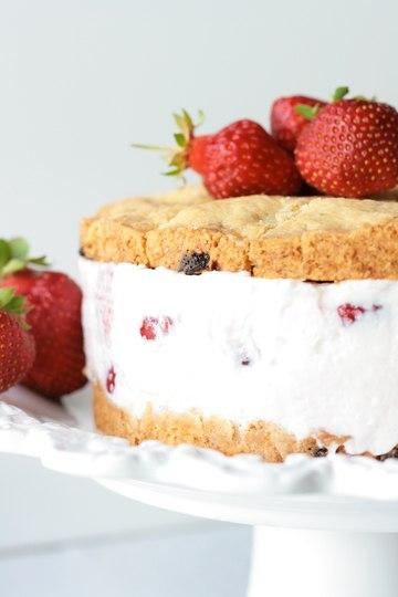 Rezept Cookie-Sandwich mit Erdbeeren - XXL