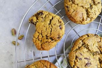 Rezept Cookies mit Pistazien und Schokolade