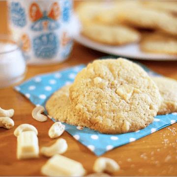 Rezept Cookies mit weißer Schokolade & Cashews