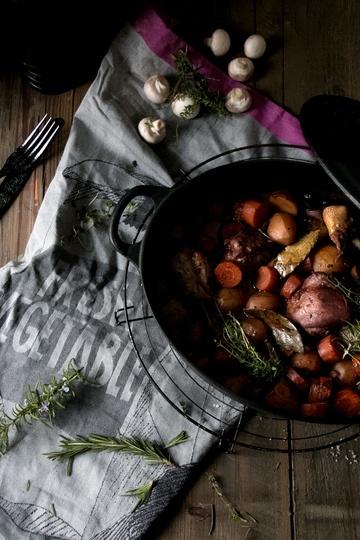 Rezept Coq au Vin (Hühnchen in Rotwein)