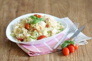 Rezept Couscous Caprese Salat