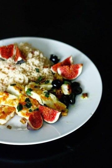 Rezept Couscous mit Halloumi und Feigen