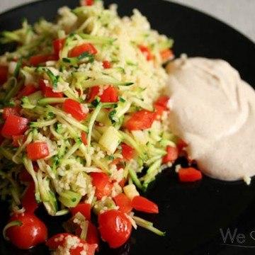 Rezept Couscous mit Zucchini, Paprika und Gewürzjoghurt