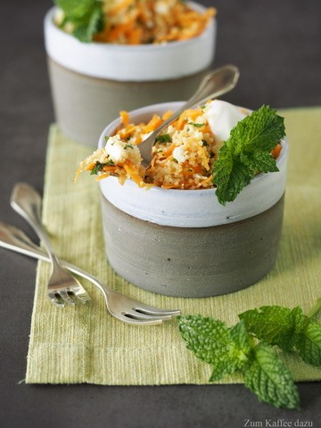 Rezept Couscous-Salat mit Feta, Minze und Karotte